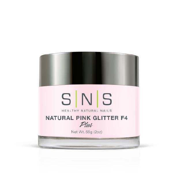 Natural pink glitter f4